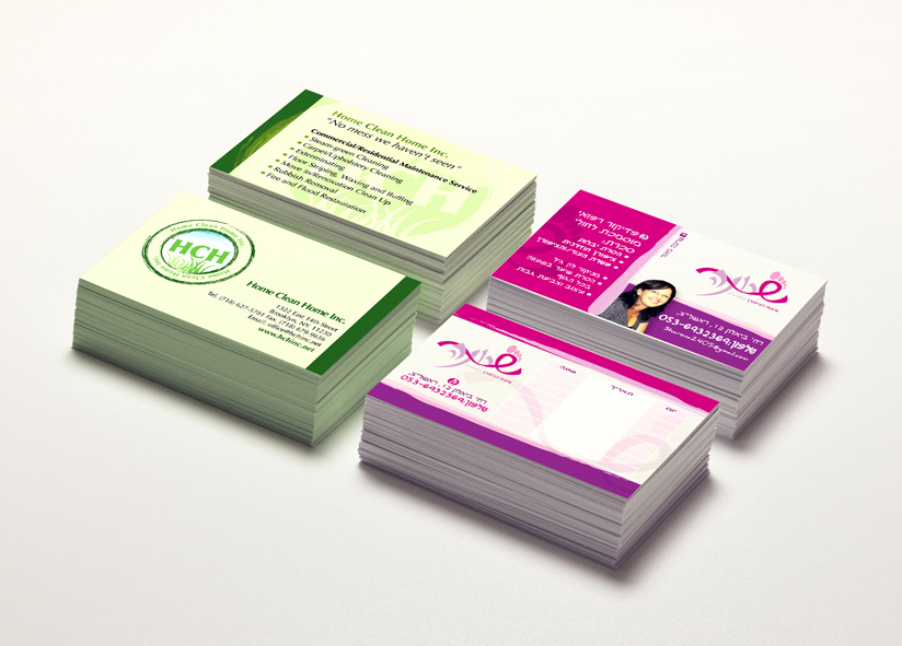 Clean Services and Pedicurist business card