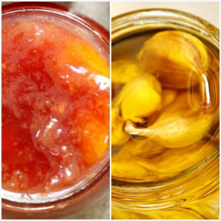 הכינו את הצנצנות/ריבת אפרסקים ונקטרינות מבושמת בגרניום/קונפי שום טרי