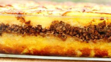 פלטה פסטלית / פסטל תפוחי אדמה ובשר בהשראת סבתא עליזה