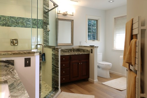 Luxurious Large Bathroom Remodel With Custom Shower