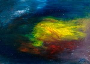 Ölbild von Raphael Walenta aus dem Jahr 2014 Ohne Titel © by Raphael Walenta