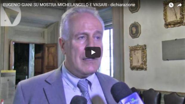 Intervista con Eugenio Giani – Mostra Michelangelo e Vasari