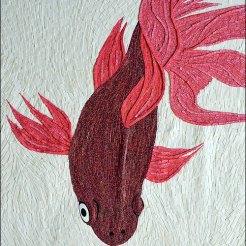 Poisson amour -Micro-collages 20 x 30cm - VENDU