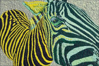 Zebre -Micro-collages 20 x 30cm - VENDU