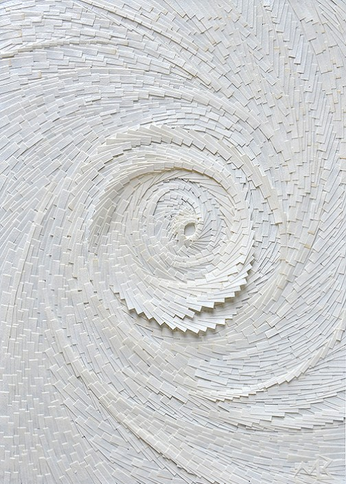 Circonvolution blanche verticale 3 - 14,5x21cm