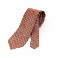 Geometric Pattern Silk Tie - 8 cm. wide | Michele Baggio ...