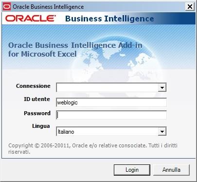 Modulo di accesso client Oracle BI