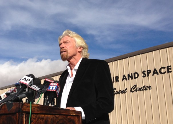 Sir Richard Branson at Mojave, CA
