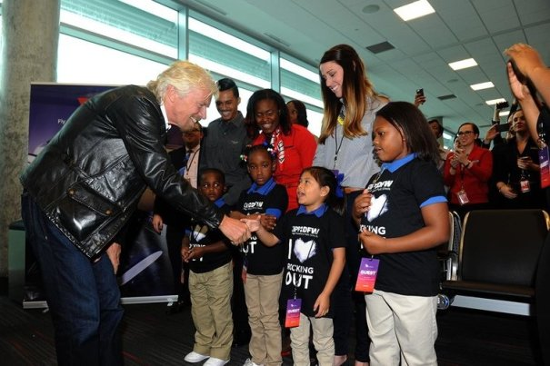 Richard Branson at Dallas Love Field. Credit: Virgin America
