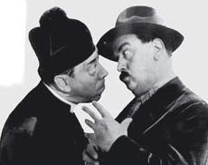 Fernandel e Gino Cervi nei panni di Don Camillo e Peppone