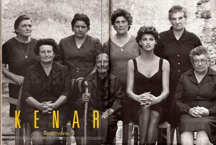 La gigantografia del 1991 esposta a New York