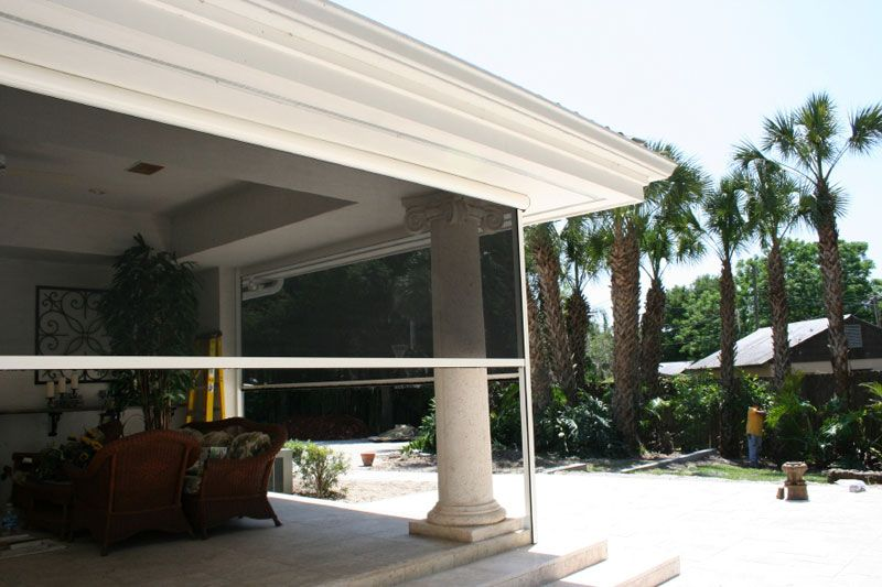 electric roll up garage screens