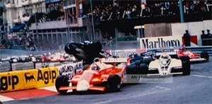 "1980 - Derek Daily ""Airlines"" right in front of my eyes - Monaco F1 GP 1980 (and almost, narrowly on the head!) . The happy days when journalists and photographers were still allowed to stand close to the cars just behind the safety gates are no longer a possibility these days - Copyright Photo MH - www.michelhugues.com"