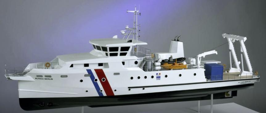 """Archéologie Sous-Marine : Le DRASSM prépare avec intensité """"l'Alfred Merlin"""", futur navire hauturier de l'archéologie sous-marine française, construit par """"iXBlue"""" à La Ciotat -@ DRASSM"""