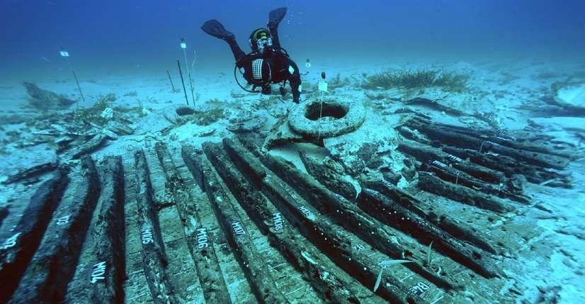 recherche archéologique sous-marine. Copyright Drassm