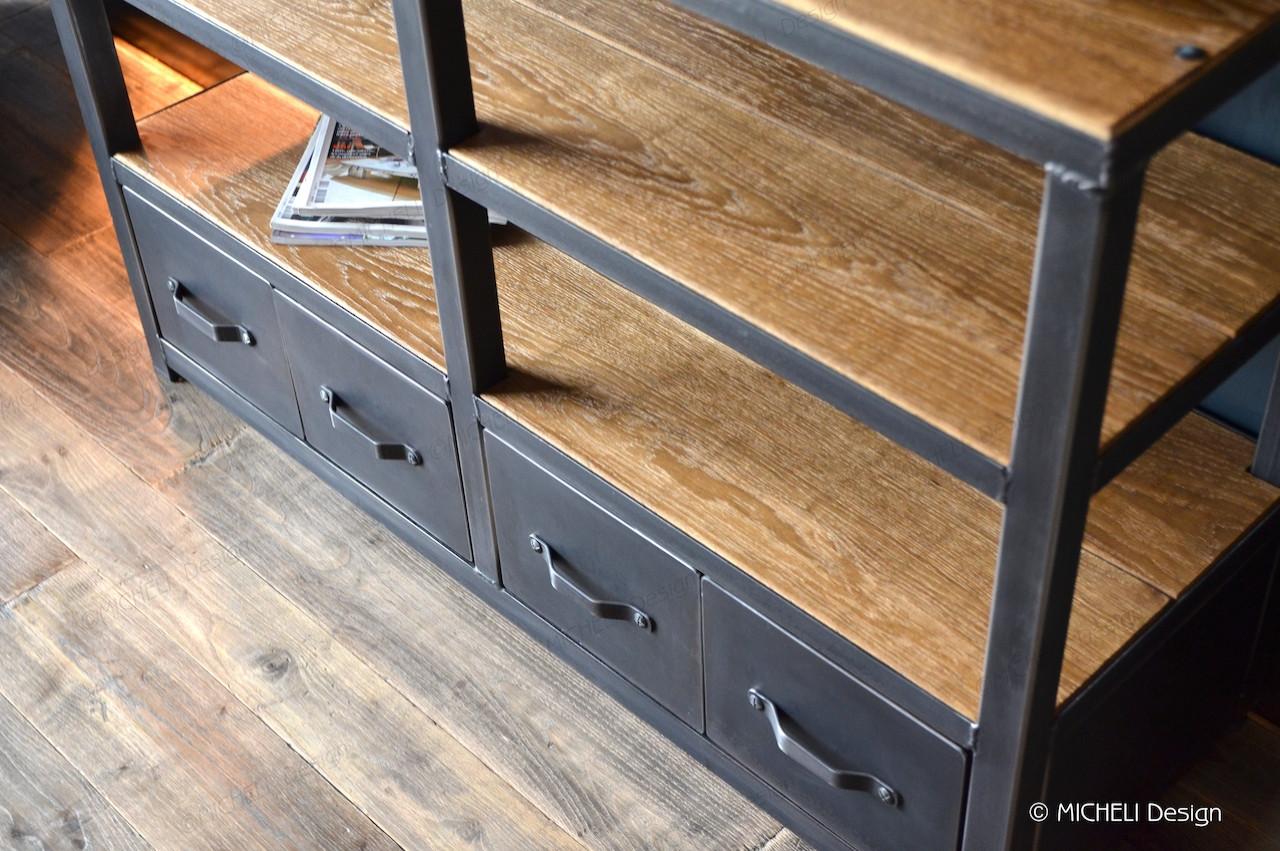 meuble d appoint industriel 4 tiroirs