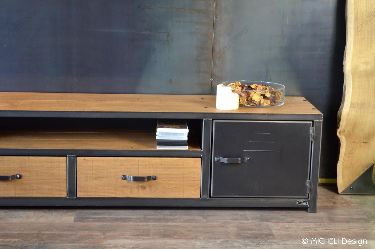 meuble tv industriel sur mesure 2