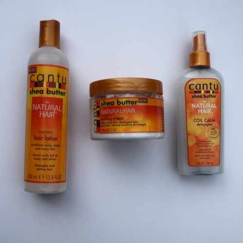 Review: Cantu for Natural Hair Creamy Hair Lotion, Coconut Curling Cream, and Coil Calm Detangler