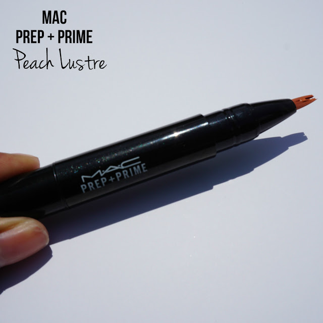 Review: MAC Prep + Prime in Peach Lustre [Swatched on Brown Skin]