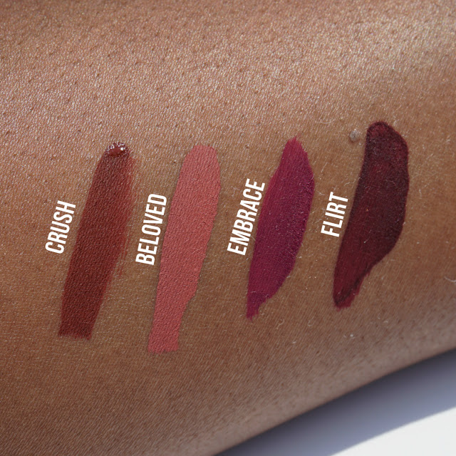 Crush, Beloved, Embrace & Flirt, Liquid Lipsticks