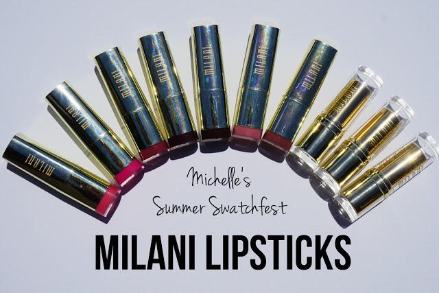 Summer Swatchfest: Milani Lipsticks [Swatched on Brown Skin]