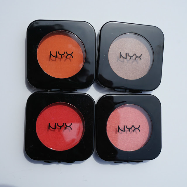 Red, Pink, Orange, Bronze Blushes