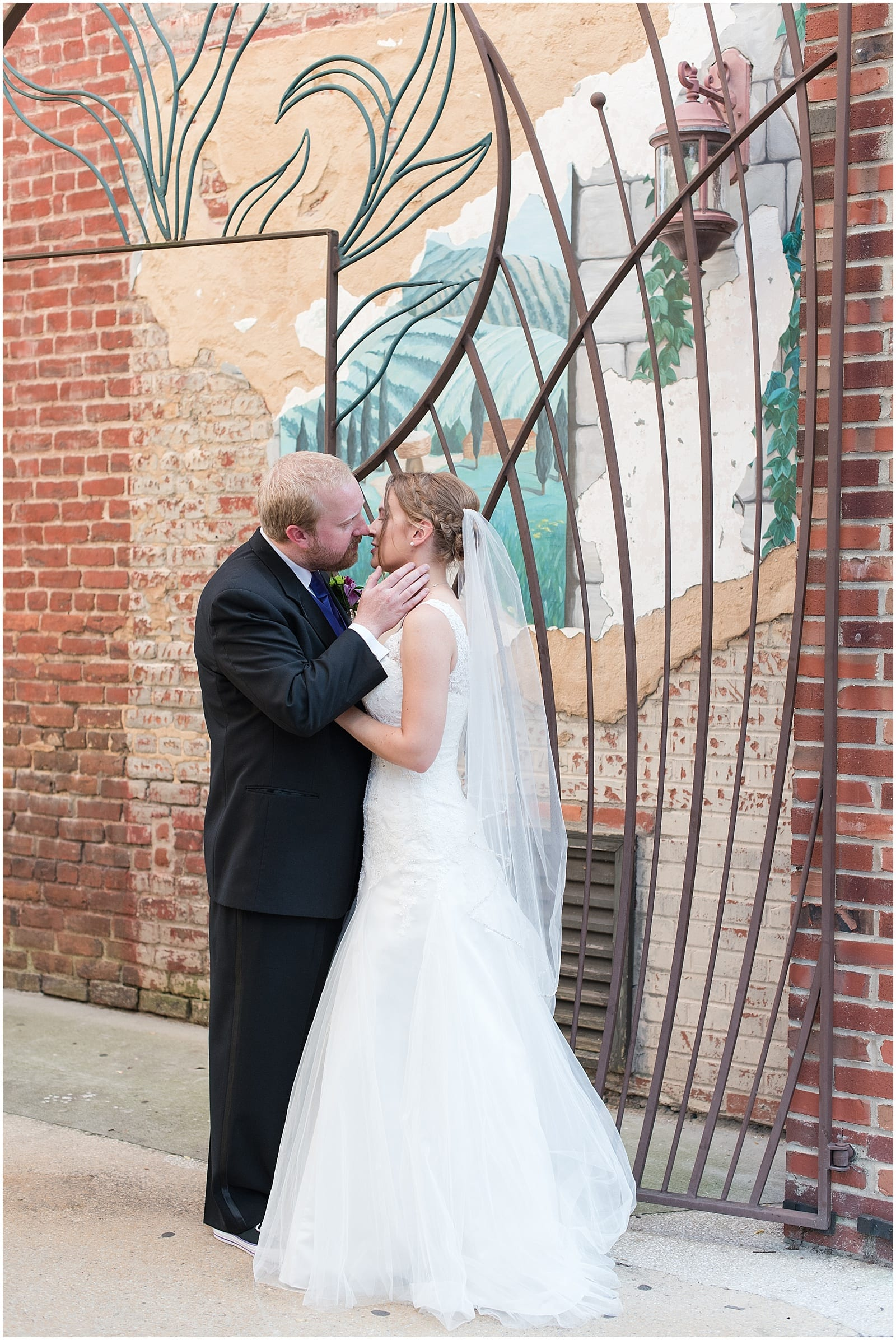 A Classy Mardi Gras Wedding At Suite 300 at Kress Terrace NC Wedding Photography