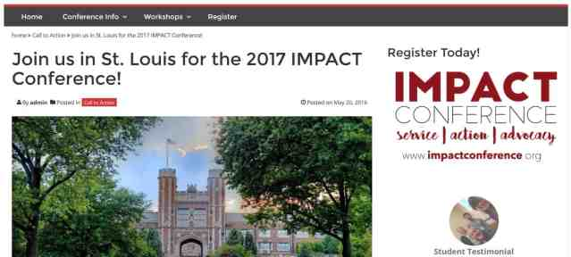 Case Study: A Website Redesign for the IMPACT Conference