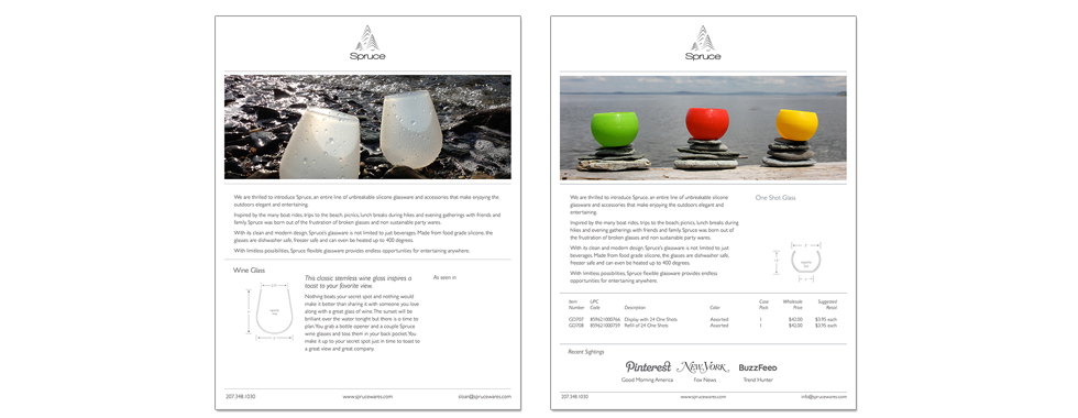 Spruce One-Page Product Sheets