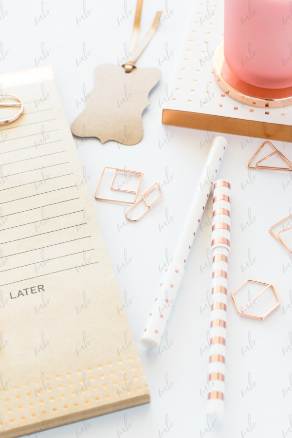 Styled Stock Photography - Rose Gold Desktop #10