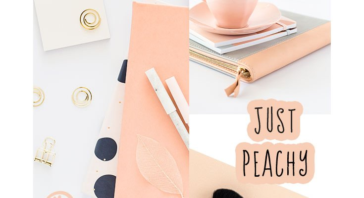 Mood Board Monday - Just Peachy - a collage of photos centred around the colour peach.