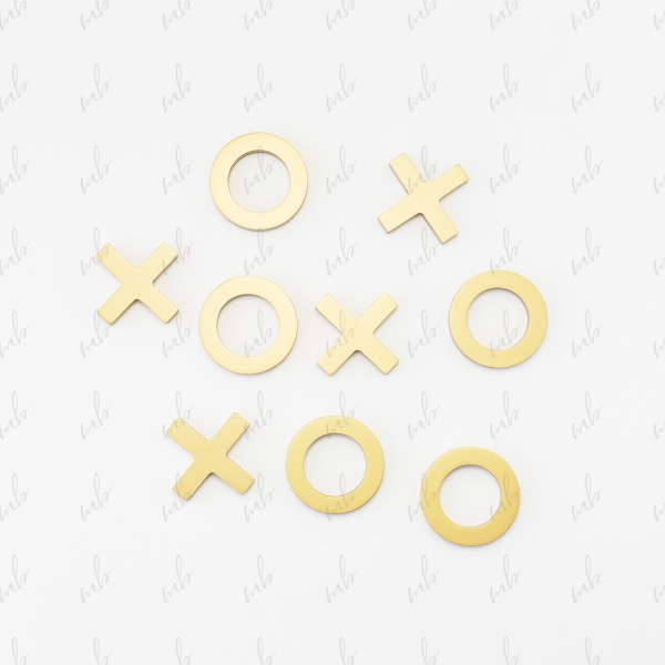 Styled stock photo - naughts and crosses game on a white background