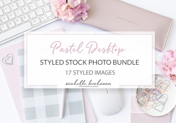 Pastel desktop styled stock bundle - Michelle Buchanan Photography and Design - MBPD Stock Shop