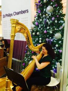 Harpist for corporate events and parties