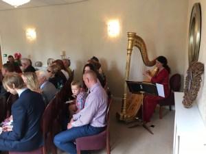Lichfield Registry harpist