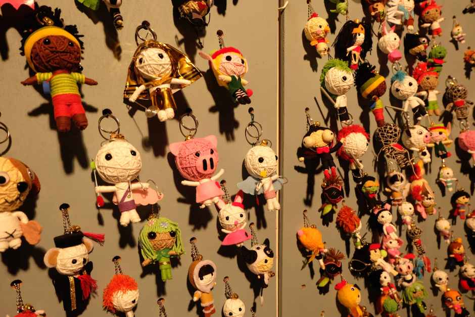 key chains in montreux christmas market shop