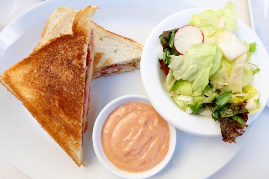 Bazar toast and salad