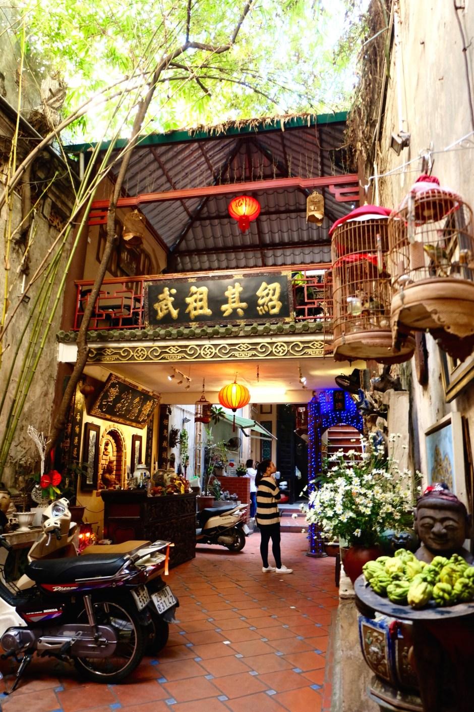 the most beautiful hidden coffee shop in Hanoi