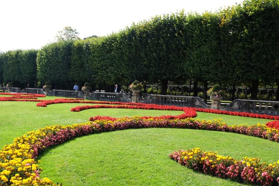 well-trimmed garden