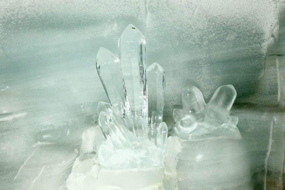 Crystal ice carving