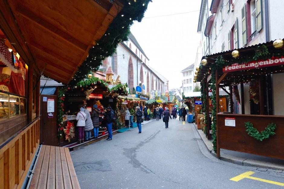Shops in Basel Christmas Market 2015