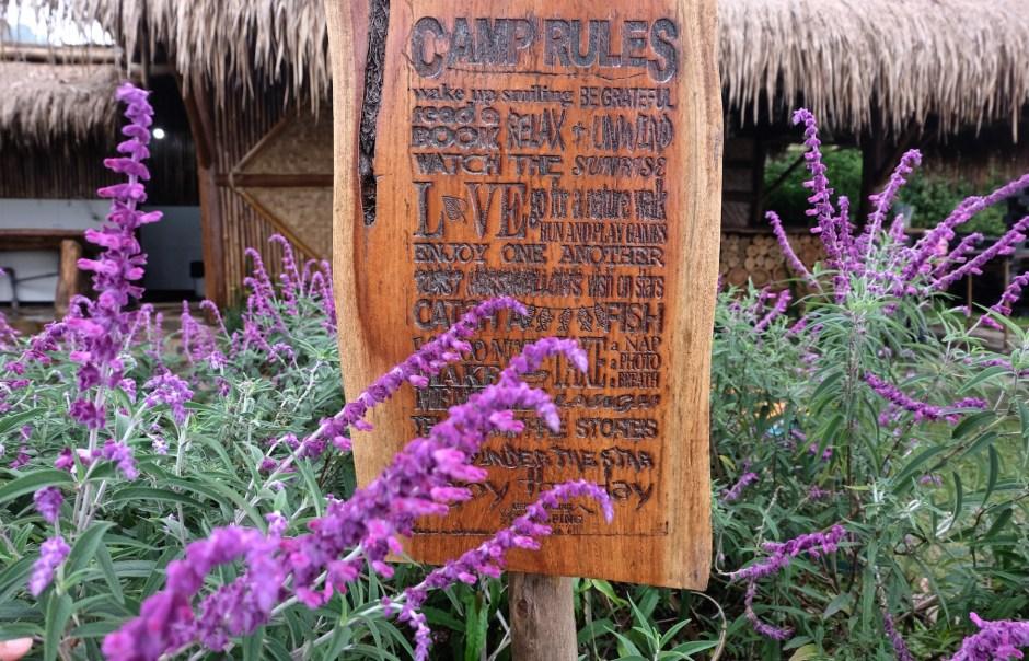 Camp Rules Legok Kondang