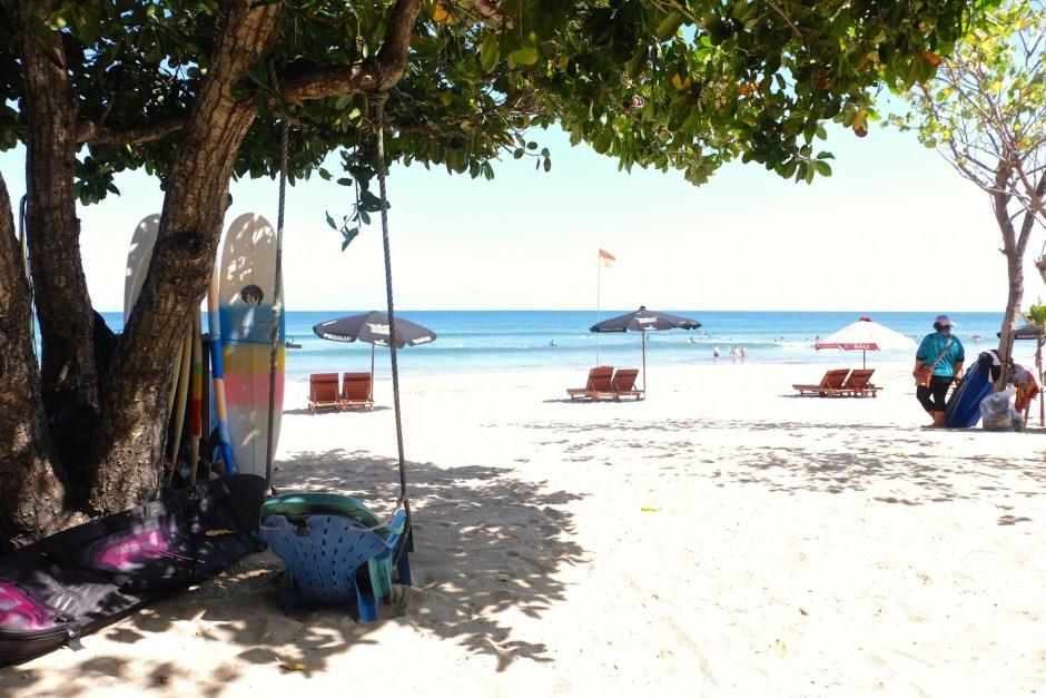 Under the shades in Kuta