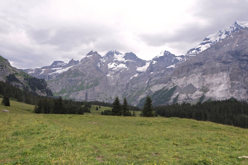 mountain on the way to oeschinensee