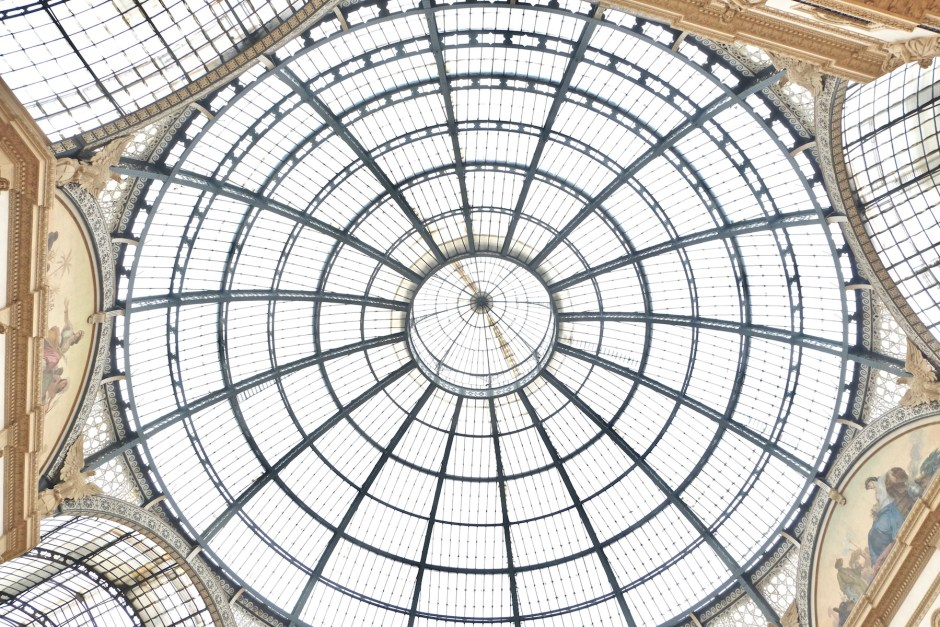vittorio emanuele II roof glass
