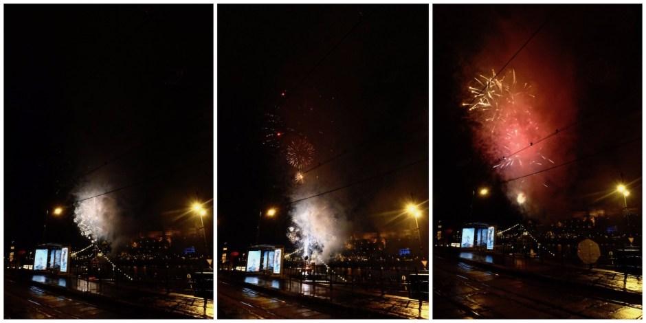 Budapest Firework Danube River