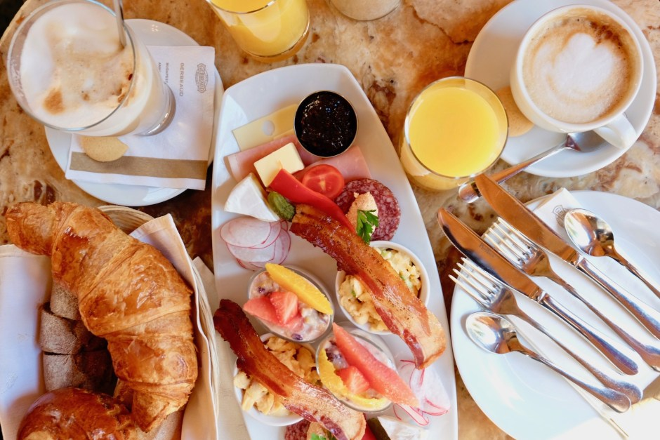Cafe Gerbeaud Brunch Flatlay