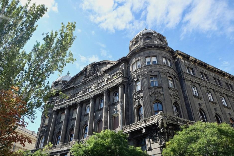 Dark Building Budapest near Memorial