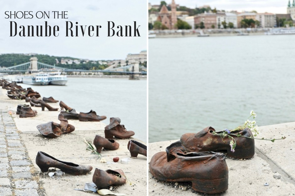 Shoes on the danube river bank