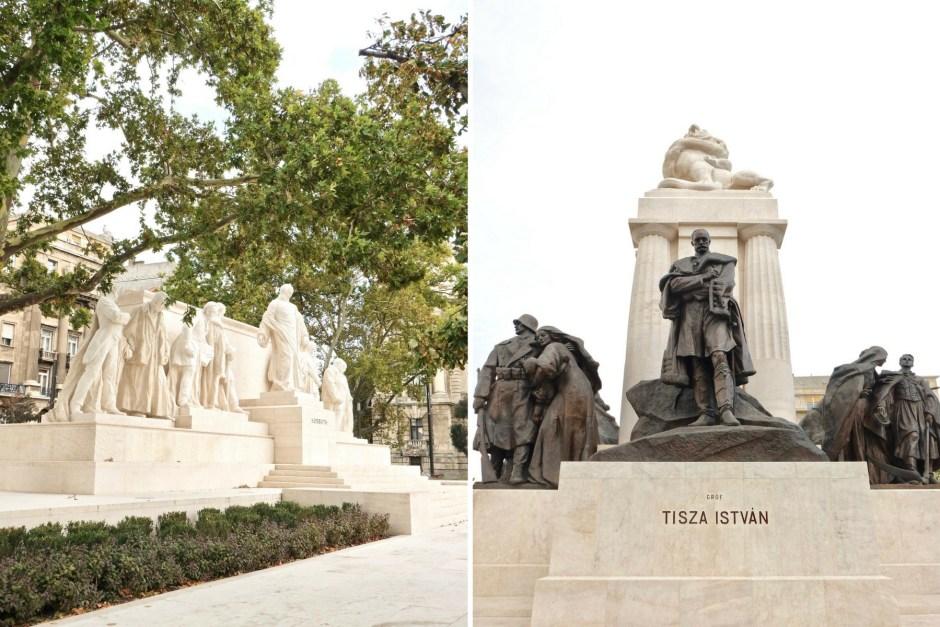Statue near Hungarian Parliament